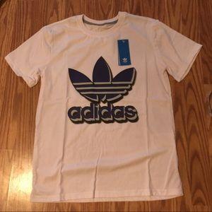bnwt Adidas Shirt White And Purple